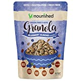 So Nourished Keto Granola Cereal - Low Carb, Grain & Gluten Free - 2g Net Carbs - Handcrafted Using Real Nuts - Blueberry Almond 11 OZ