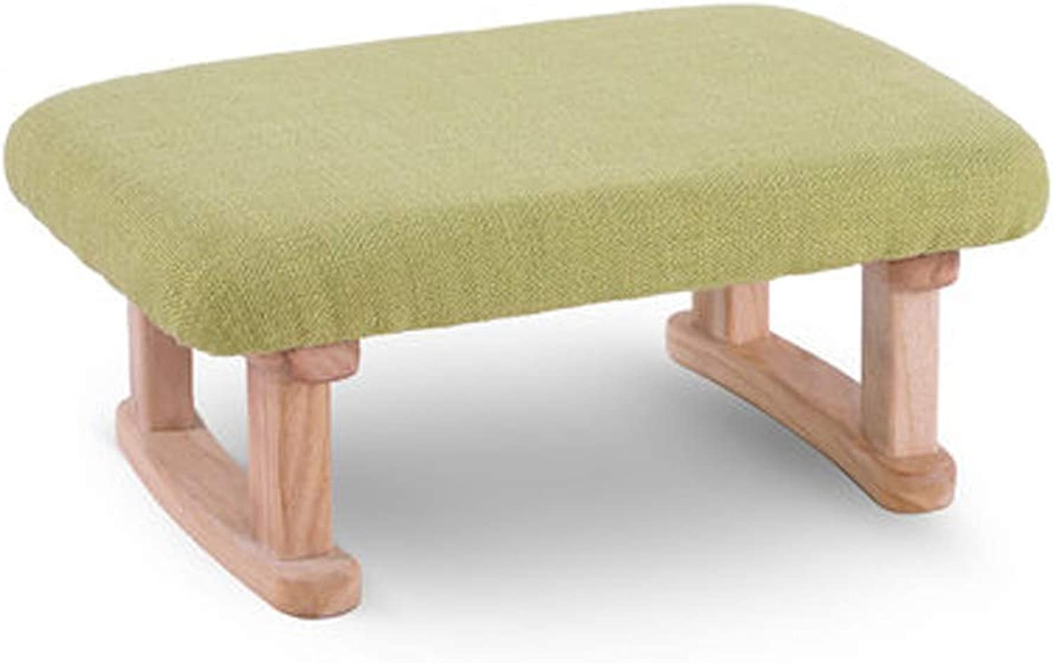 KGMYGS Simple shoes Bench, Home Solid Wood Chair, Stylish Sofa Bench, Bed End Stool, Creative Small Bench (color   GREEN)