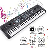 RenFox Piano Keyboard 61-Key Portable Keyboard Piano with Microphone&USB Cable Toy for Kids