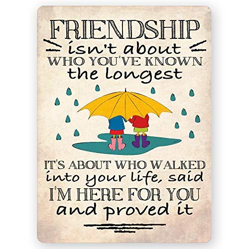 Freundschaft ist nicht über die von Ihnen bekannt der längsten Freundschaft Zitat Inspirierende Geschenk Kühlschrank Magnet 10,2x 7,6cm