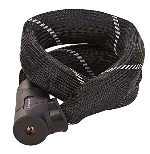 Prophete Unisex – volwassene kettingslot, maximale beveiliging tegen breken, lengte: 110 cm, Ø 8,5 mm, veiligheidsniveau 8, zwart, één maat