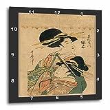 3dRose DPP_44756_2 2 Vintage Oriental Ladies-Wall Clock, 13 by 13-Inch
