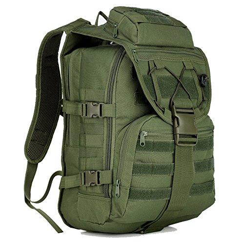 sohodoo X7 Outdoor tactics Oxford mochila de tela de gran capacidad para senderismo y acampada, Army grreen