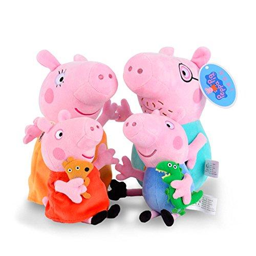 APlusMart Piggy Pig Stuffed Family Peppa George Mummy and Daddy Pig