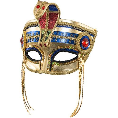 Amakando Cleopatra - Mscara de serpiente egipcia, dorada, antigua, faran, mscara, disfraz de carnaval, accesorio de serpiente, mscara de carnaval de Egipto