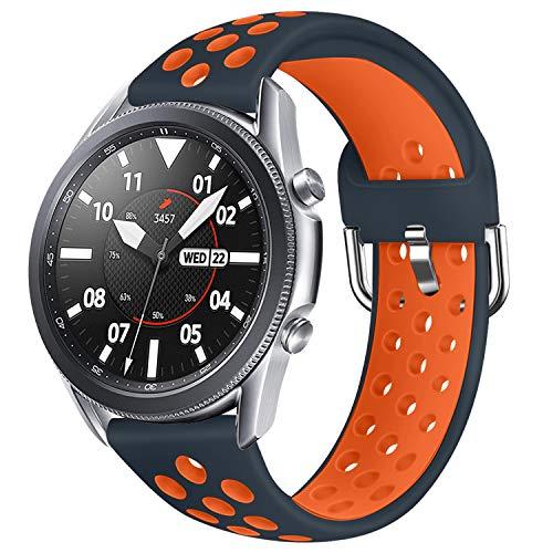 AOTVIRIS Compatible con pulsera de 22 mm Galaxy Watch 3 45 mm/Galaxy Watch 46 mm/Gear S3 Frontier/Classic Pulseras de silicona pulsera deportiva para Huawei Watch GT/GT 2 46 mm/GT 2e/Ticwatch Pro.