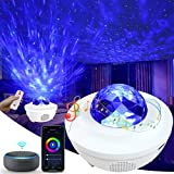 Starry Sky Projector, 4 in 1 Galaxy Projector Star Projector with Alexa and Smart APP, 10 Colors Water Wave Projector Night Lights with Bluetooth Speaker and Voice Control for Room Decoration