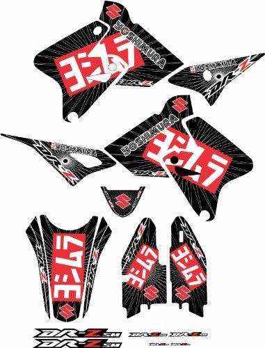 Black/Red Graphics Kit Fits Suzuki Yoshi Drz400 Drz400s Drz400sm