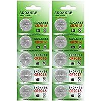 10-Pack SKOANBE CR2016 3V Lithium Battery