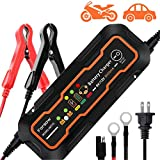 Farsaw Automatic Smart Battery Charger, 5000mA 6V/12-Volt, Portable Battery Tender, Trickle Charger, Battery Maintainer, Jumper Starter, for Car Truck Marine Motorcycle Seascooters Battery Charging
