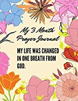 My life was changed in one breath from God. My Prayer Journal: Guide To Prayer, Praise and Thanks