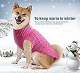 Idepet Pet Cat Dog Sweater,Warm Dog Coat Jumpers Hoodie Cat Clothes,Fleece Pet Coat for Puppy Small Medium Large Dog (L, Pink)