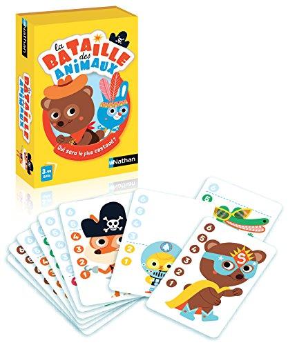 Nathan - La bataille des animaux - Jeu de cartes simplifié pour enfant dès 3 ans - 2 joueurs