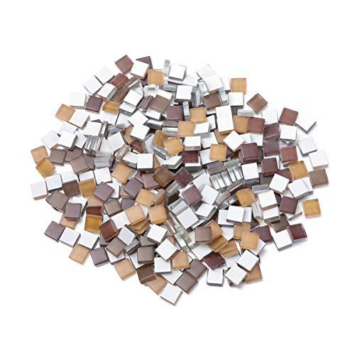 Healifty - 300 piezas de mosaico de cabujón de cristal para decoración de marcos artesanales (naranja)