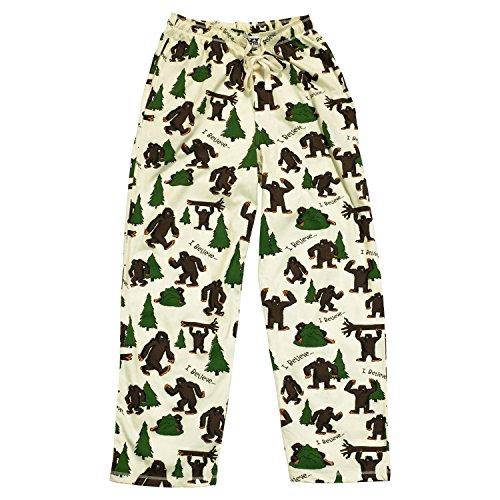 I Believe Bigfoot Men's Pajama Pants Bottom by LazyOne | Pajama Bottom for Men (X-Large)