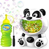 WisToyz Bubble Machine Panda Bubble Blower Auto Bubble Maker Over 500+ Bubbles Per Minute, Easy to Use Bubble Machine for Kids Toddlers Toy Bath Toys Indoor Outdoor Bubble Toys 2 AA Batteries Needed