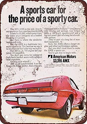 Yilooom Dekoration Poster Schild 30,5 x 40,6 cm 1970 American Motors A-M-X A469 Vintage Look Reproduktion Wanddekoration Metall Blechschild Schwerlast Metall Blechschild Straßenschild
