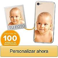 Funda Personalizada para Apple iPhone SE 2020 con tu Foto, Imagen o Escritura - Estuche Suave de Gel TPU Transparente - Impresión