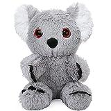 Koala Stuffed Animal, Koala Bear Stuffed Animal, Gifts for Kids, Cuddly Koala Baby Plush, 8 Inches Grey