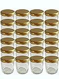 60er Set Sturzgläser Mini Gläser 53 ml Deckelfarbe Gold To 43 Rundgläser Honig Kaviar...