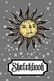 Sketchbook: Sun Moon Stars Wicca Magic Art Gift - SKETCHBOOK, 130 pages, 6' x 9'