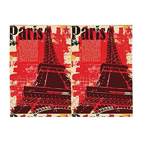 Manta suave estilo Grunge de la Torre Eiffel de París para sofá cama ligera en todas las estaciones de 156 x 202 cm