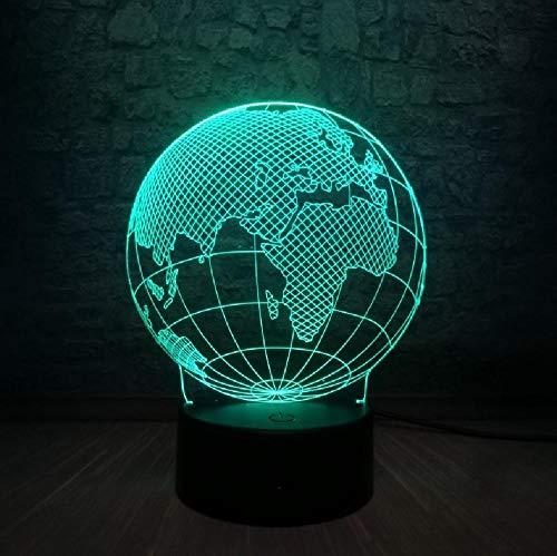 Globe World Europe Map 3D LED-Lampe 7 Farben ändern Stimmungsbirne Kid Desk Dekoration Gadget Geschenk Bluetooth
