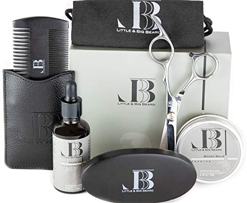 Beard Kit, Beard Grooming Kit for Men, Gift Set – All Natural Ingredients, Beard Oil, Beard Balm...