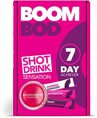Boombod Weight Loss Shot Drink, Glucomannan, High Potency, Diet and Exercise Enhancement, Promote Fat Loss, Keto and Vegan Friendly, Sugar and Aspartame Free, Gluten-Free - Blackcurrant Flavour…