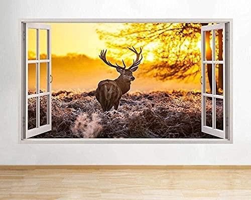 s ciervos otoño escena árboles calcomanía cartel arte Vin B053-PegatinasDe Pared Calcomanía Decoración - 50x70cm