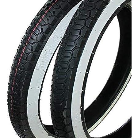 Piaggio Ciao Tyre Set White Wall Moped 2 1 4 X 16 2 25 X 16 Inches Citomerx Auto