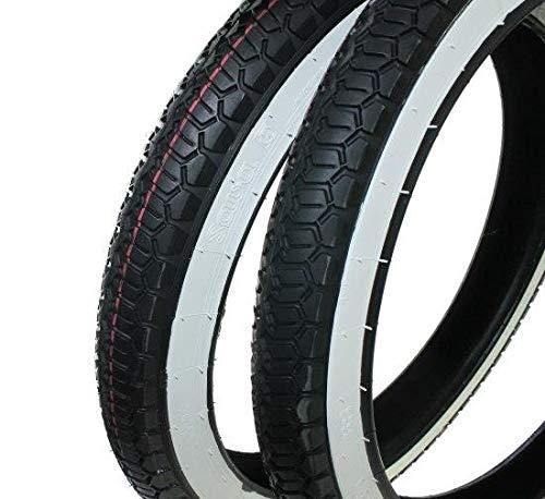 Piaggio Ciao Reifen Set Weißwand Mofa Moped 2 1/4 x 16, 2,25 x 16 Zoll