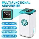 RDJM Air Purifier Domestico, Purificatore d'Aria, Sterilizzatore UV Ionizzatore...