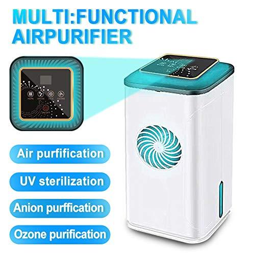RDJM Home Luftreiniger, Luftreiniger, UV-Sterilisator Luftionisator Ozongenerator Geruchsentfernung Lufterfrischer für Schlafzimmer Wohnzimmer Badezimmer Büro
