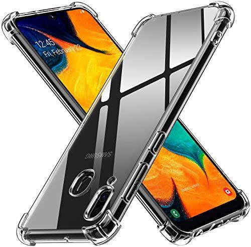 ivoler Funda para Samsung Galaxy A40, Carcasa Protectora Antigolpes Transparente con Cojín Esquina Parachoques, Flexible Suave TPU Silicona Caso Delgada Anti-Choques Case Cover