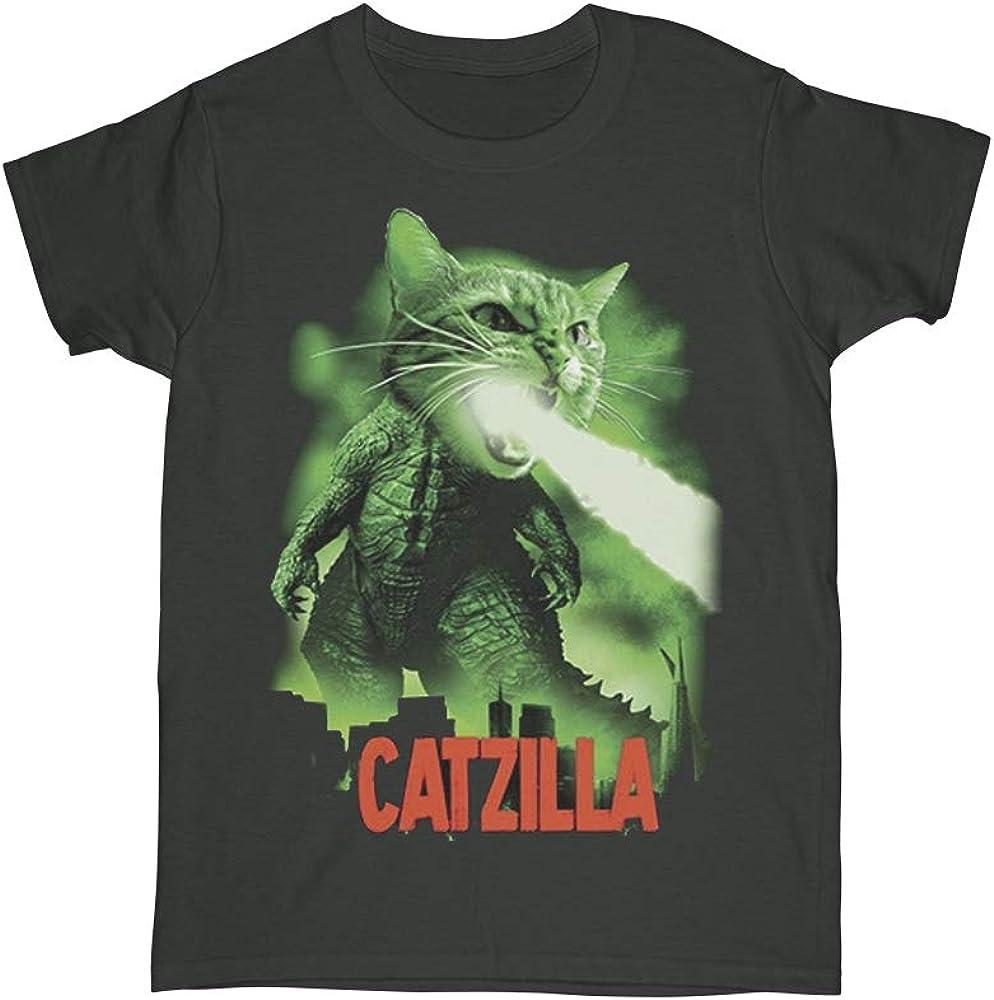 Boy's Catzilla T-Shirt, Funny Cat Parody Tees, Cat Lover Tees