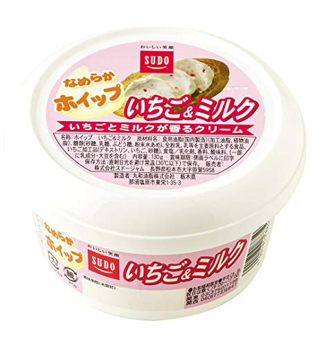 スドージャム ホイップ いちご&ミルク 130g ×6個
