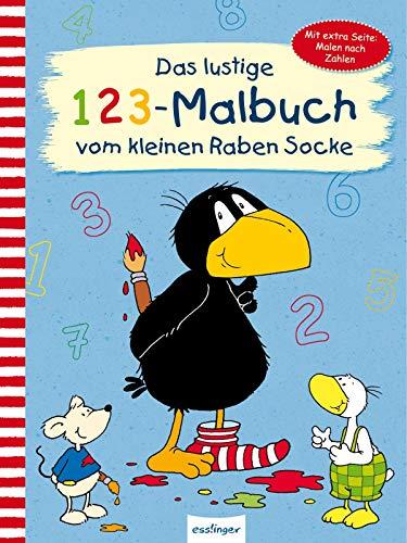 Der kleine Rabe Socke: Das lustige 1 2 3 – Malbuch vom kleinen Raben Socke: Mit extra Seite: Malen nach Zahlen