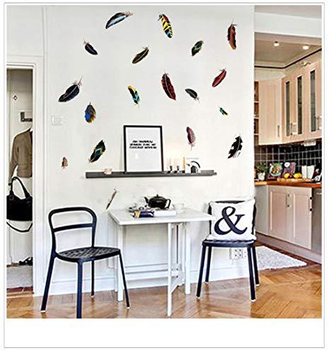 Federwandsticker Wohnzimmerwand Warme Wandsticker Bettsticker Dekorative Aufkleber