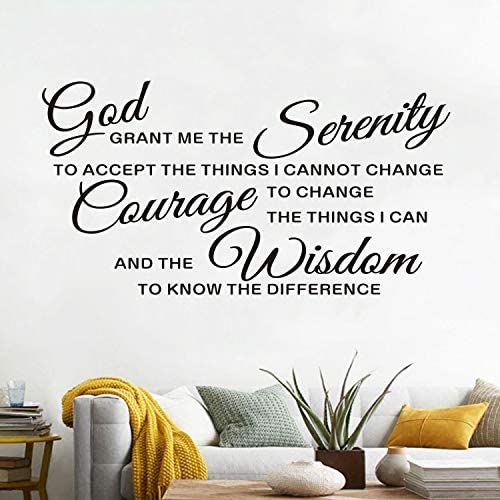 AnFigure Wall Decals for Living Room Quotes Wall Decal Bedroom Family Christian Bible Verse product image