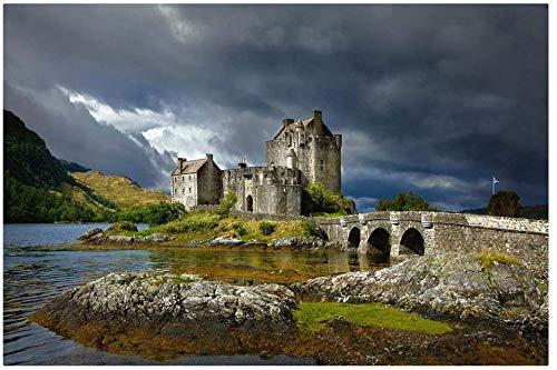 WXLSL Puzzles Puzzle 1000 Piezas, Rompecabezas para Adultos, Rompecabezas para Niños Juguetes Educativos, Castillo De Eilean Donan, Escocia