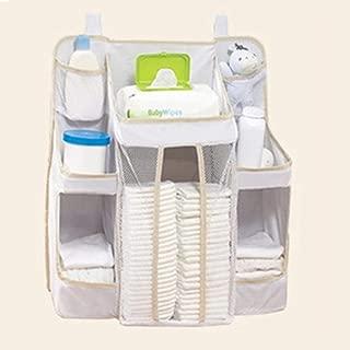 Diaper Organizer  Sunzit Crib Storage Bag Baby Nursery Organizer Multifunction Bedside Hanging Bag for Baby Use