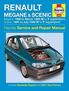 Renault Megane and Scenic Petrol and Diesel Service and Repair Manual: 1996 to 1999 (Haynes Service and Repair Manuals)