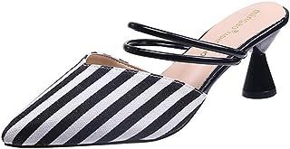 zaragfushfd Sexy Women's Stiletto Kitten Heels Sandals Mules Shoes