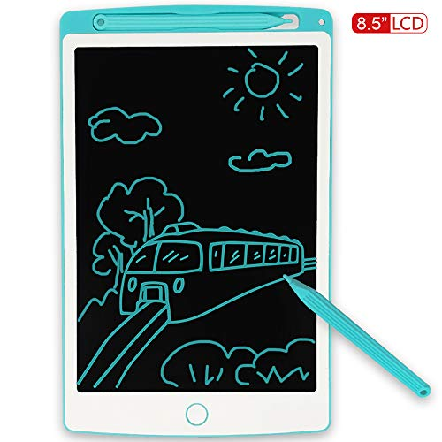 JONZOO LCD Writing Tablet, 8.5 inch Mini Electronic Doodle Board Kids Drawing Board, Digital Handwriting Pad with Pen, Erasable Reusable eWriter Paper-Saving Tool for Home/School/Office, Blue