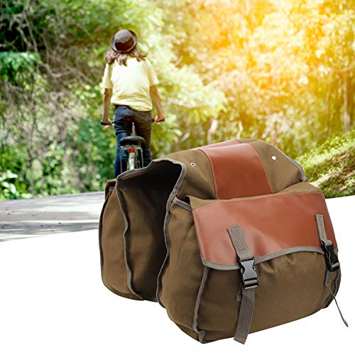 40L Large Capacity Mountain Bike, Bike Rear Seat Carrier, Cycling Accessory Rear Seat Bag, Multifunctional for Long Distance Riding Mountaineering(Khaki, One Size)