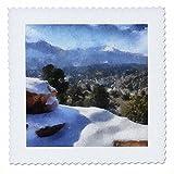 3dRose QS 38644_ 3Colorado Berge Schnee Spieß und Peak