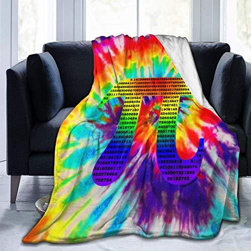 Hoswee Kuscheldecken,Überwürfe,Mikrofaser-Decke Pi Logo Super Soft Cozy Microplush Velvet Fleecedecke Warm Premium Couch Throw Blanket Luxurious