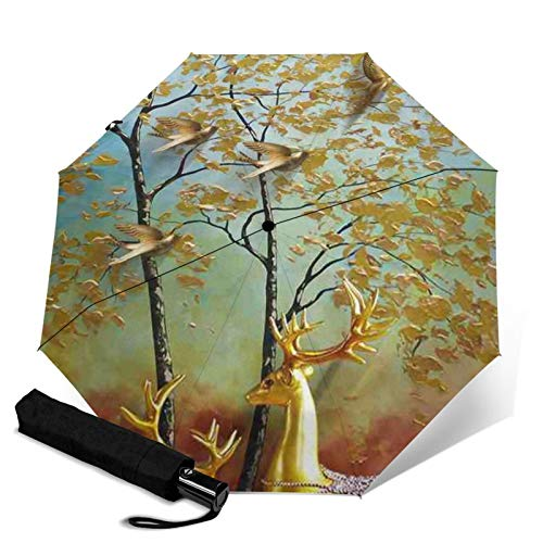 Antelope, Premium-Regenschirm, winddicht, kompakter Regenschirm automatisch, Reise-Regenschirm faltbar – tragbarer Regenschirm Auto – Reise-Regenschirm für Herren