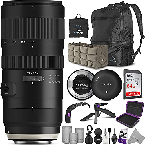 Tamron SP 70-200mm f/2.8 Di VC USD G2 Lens for Nikon F Cameras + Tamron Tap-in Console with Altura Photo Advanced Accessory and Travel Bundle